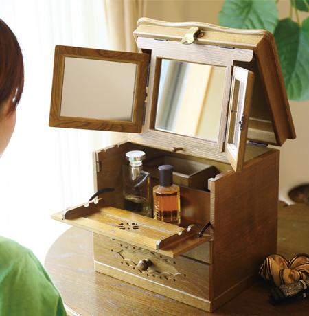 メイクボックス(三面鏡)